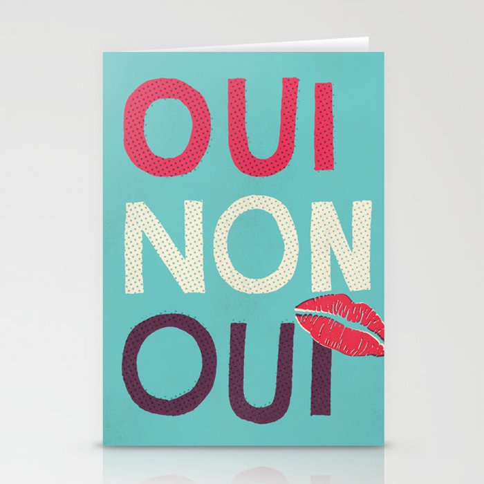 Oui non oui stationery cards by seenandnoted society6 for Oui non minimaliste