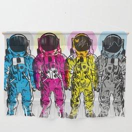 CMYK Spacemen Wall Hanging