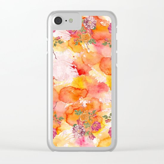 Ring a ring o' roses Clear iPhone Case