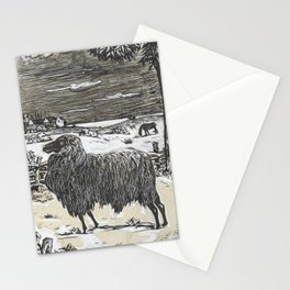 Sheep in a landscape , Richard Roland Holst, 1878 Stationery Cards