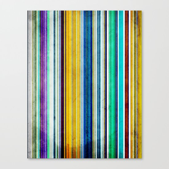 Colorful Stripes of Texture Canvas Print