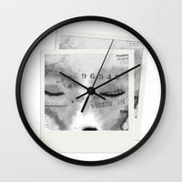 typo Wall Clocks featuring Typo Fox by Vidility