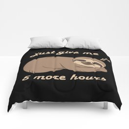 Sloth - 5 More Hours Comforters