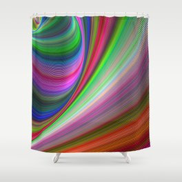 Vivid hypnosis Shower Curtain