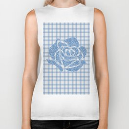 Patchwork rose 3 Biker Tank