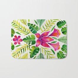 Tropical Symmetry – Pink & Green Bath Mat