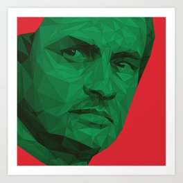 Jose Mourinho / Portugal – Poly Art Print