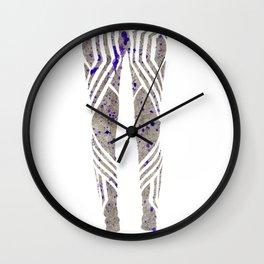 Silver & Purple Wall Clock
