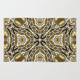 abstract jewel gold Rug
