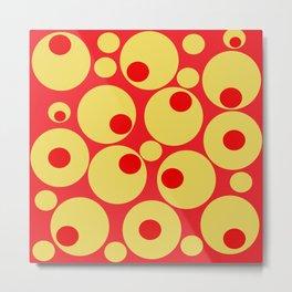 Red and Gold Circles Metal Print