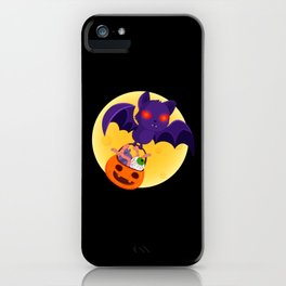 Vampire Bat With Full Moon design Gift For Halloween iPhone Case