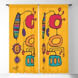 Feather Flower Chime in Color Blackout Curtain