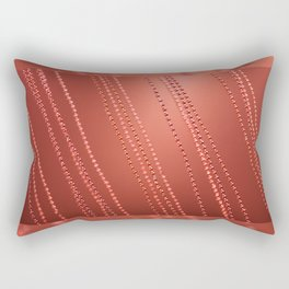 Red abstract awry chains Rectangular Pillow