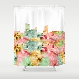 Fort Wayne Skyline Indiana Shower Curtain