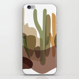 Abstract Desert Cactus Landscape iPhone Skin