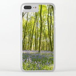 Bluebells of Micheldever Wood Clear iPhone Case
