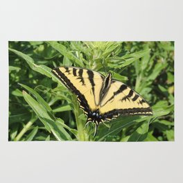 Swallowtail at Rest on Greenery Rug
