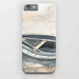 Rowboat At Low Tide #seascape iPhone Case