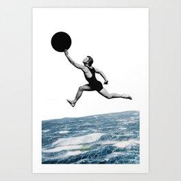 Big Leap Art Print
