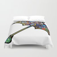 mary poppins Duvet Covers featuring Mary Poppins by Ilse S
