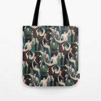 concert Tote Bags featuring Concert pattern by David van der Veen