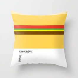 Pantone Food - Hamburger Throw Pillow