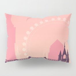Vintage London Poster Pillow Sham