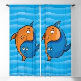 Yin Yang Fish Cartoon Blackout Curtain