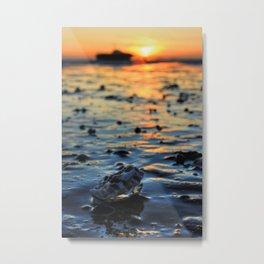Clam Sunset Metal Print