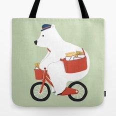 Polar bear postal express Tote Bag