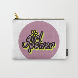 Girl Power, Flower, Girly sticker, Girly t shirt, Girly poster, purple version Carry-All Pouch