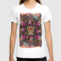 sugar skulls T-shirts featuring Crazy Sugar Skulls by Spooky Dooky