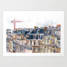 Roofs of Paris Art Print