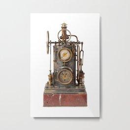 Vintage Clock Metal Print