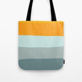 Zen Ocean Stripes Tote Bag
