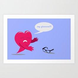 Love Blinded Art Print
