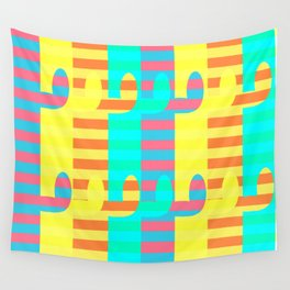 Cacti light Wall Tapestry
