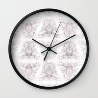 marie antoinette Wall Clocks featuring Marie Antoinette by Frances Louw