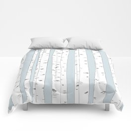 Aspen Forest - Blue Grey Vertical Comforters