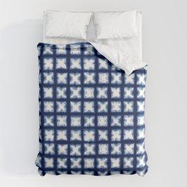 Indigo Shibori Granny Squares Duvet Cover
