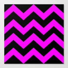 Black & Pink Chevron Lines  Canvas Print
