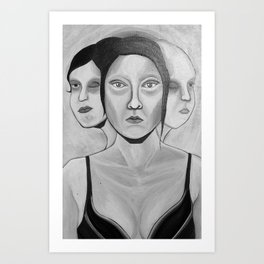 my incomplete faces Art Print