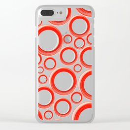 Red Cicles 01 Clear iPhone Case