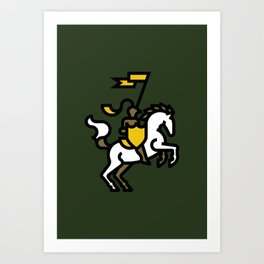 Knight on Green Art Print