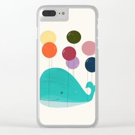 happy whale Clear iPhone Case