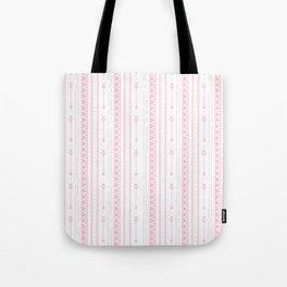 Blush pink white bohemian arrows zigzag geometrical Tote Bag