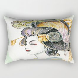 Chameleon Oiran Rectangular Pillow