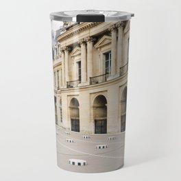 Buren's Columns 2, Le Palais Royal Courtyard, Paris, France Travel Mug
