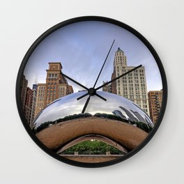 The 'Cloud Gate' also known as 'The Bean' in Chicago, Illinois Wall Clock