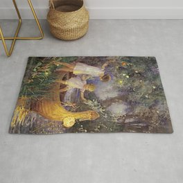 """Boat To Fairyland"" by Margaret Tarrant Rug"